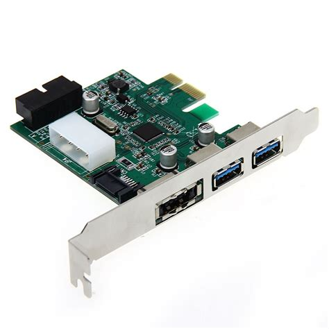 Usb Card Pci Express desktop 3 port usb 3 0 20 pin power esata pci express adapter controller card dt ebay