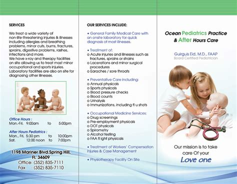 Pediatric Brochure Exles Brickhost F316f885bc37 Free Pediatric Brochure Templates