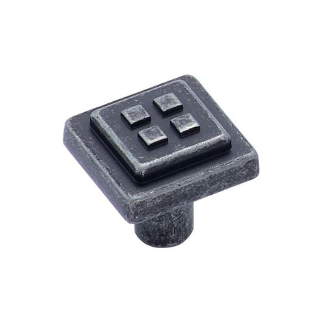 amerock square cabinet knobs shop amerock forgings wrought iron dark square cabinet