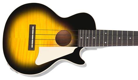 Ukulele Electric Epiphone Les Paul epiphone les paul acoustic electric ukulele heritage cherry burst musical