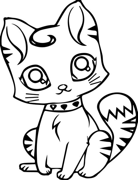 kawaii cat coloring pages cute cat coloring pages coloringsuite com