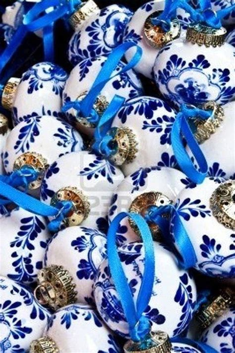 christmas ornaments delft blue and white blue and white china ornaments decorations
