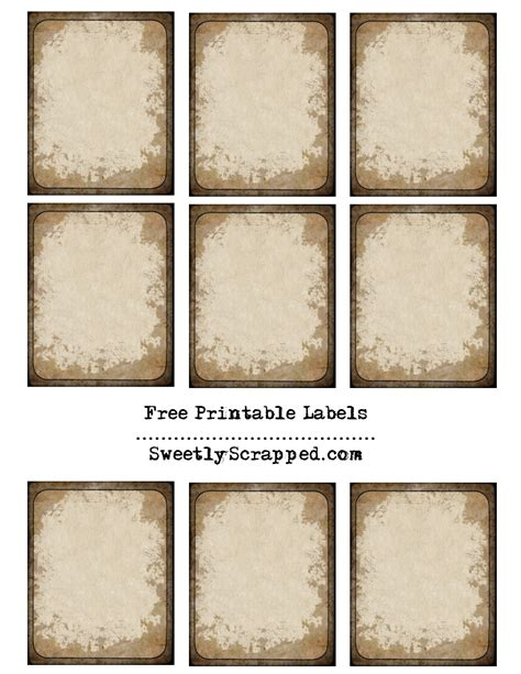 Free Printable Vintage Label Templates | 9 best images of vintage book labels free printable free