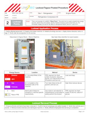 loto program template lockout tagout posted procedure exles picture and images