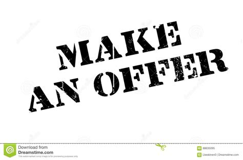 What An Offer by Make An Offer Rubber St Stock Vector Image Of Generate