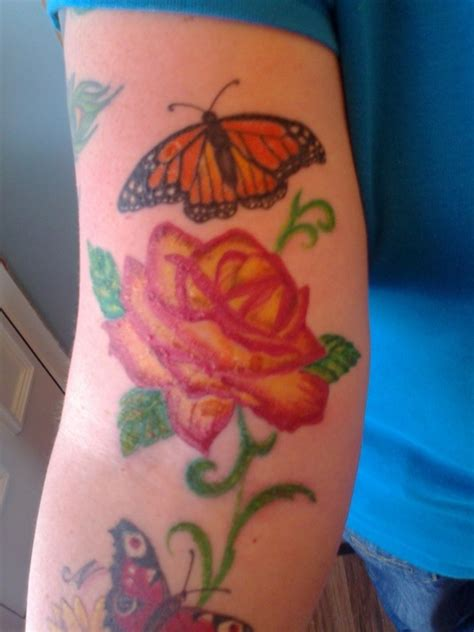 butterfly tattoo elbow 22 beautiful rose elbow tattoos