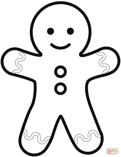 simple gingerbread man coloring page  printable