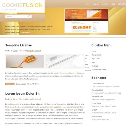 Cookie Fusion Template Free Website Templates In Css Html Js Format For Free Download 183 10kb Cookie Website Template