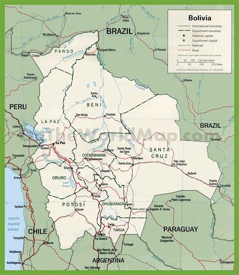 bolivia political map bolivia political map
