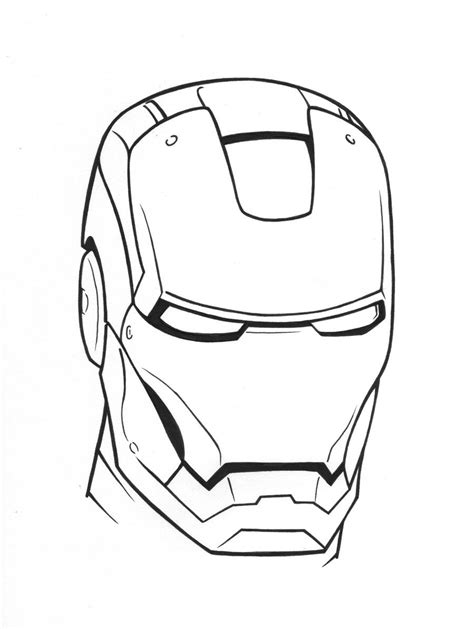 Iron Man Symbol Coloring Pages | iron man helmet coloring pages super heroes coloring