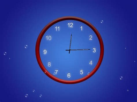 screenshot review downloads of demo abstract clock