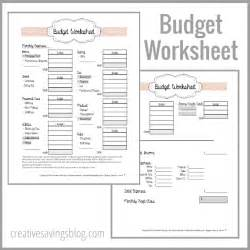 how to budget my money worksheet abitlikethis
