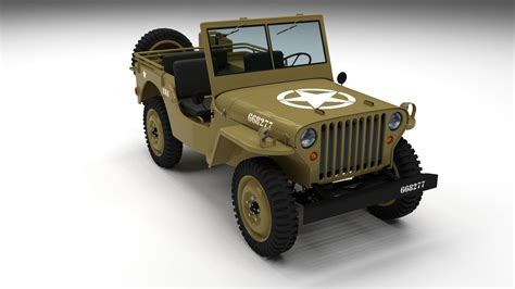 desert military jeep full w chassis jeep willys mb military desert hdri 3d