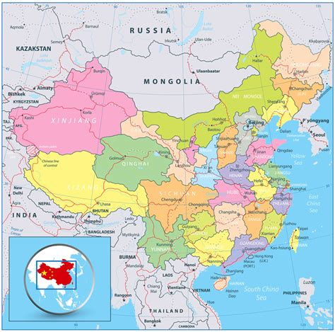 china political map china map guide of the world