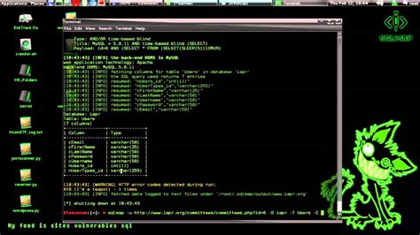 tutorial hacker sqlmap hacking with sql injection tutorial website
