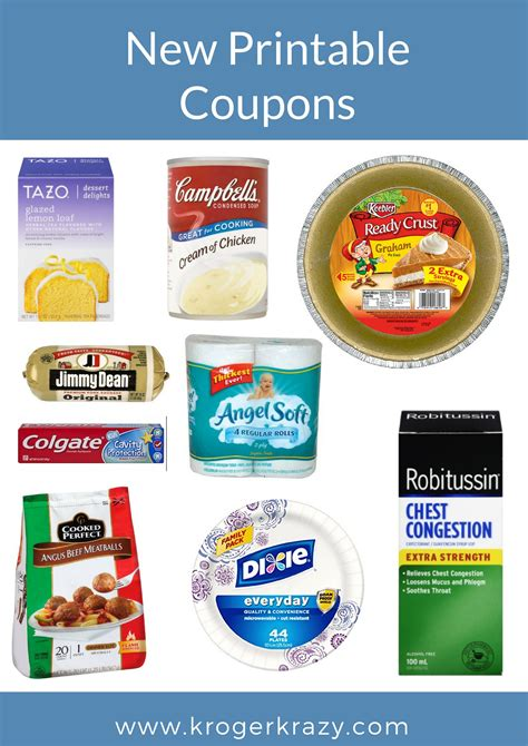 printable kroger coupons new printable coupons stayfree tazo jimmy dean