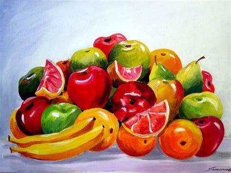 acrylic painting vegetables colourful fruit composition v samiran sarkar artelista