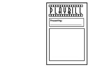 Playbill Template by Readers Theater Playbill Template Lib Lessons