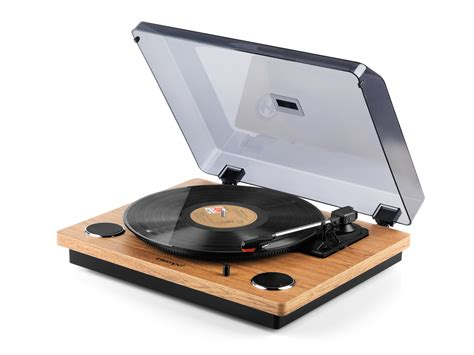 Record Of Intempo Ee1513stk Oak Revolve Record Player Turntable Speakers No1brands4you