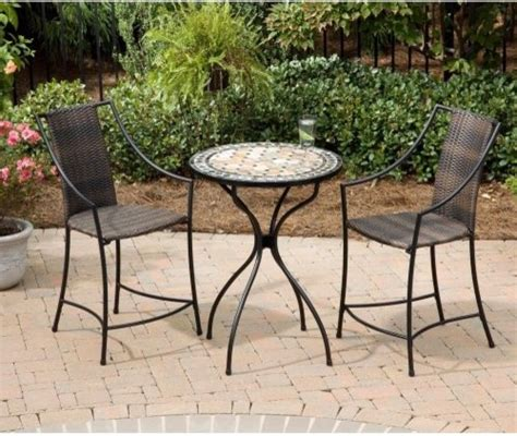 high top outdoor patio furniture home styles marble high top laguna patio bistro set contemporary patio furniture and outdoor
