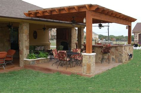 Covered Outdoor Kitchen Designs Outdoor Pergolas Covered Outdoor Kitchen Weatherproof Pergola Outdoor Living