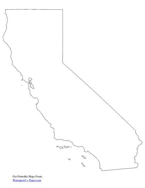 Printable Map Of California
