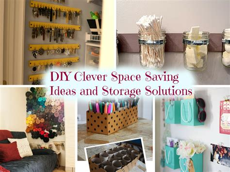 Handmade Storage Ideas - 10 diy clever space saving ideas and storage solutions