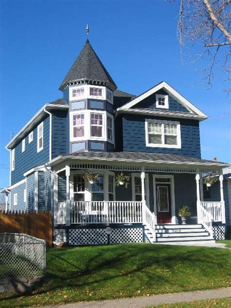 Blue Victorian House Home Design Pinterest