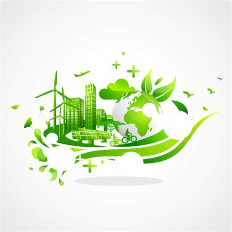 free ecology ppt themes creative ecology city background illustration free vector