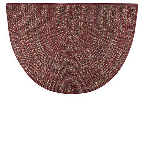 Goods Of The Woods Hearth Rugs by Goods Of The Woods Braided Polyester Half Hearth