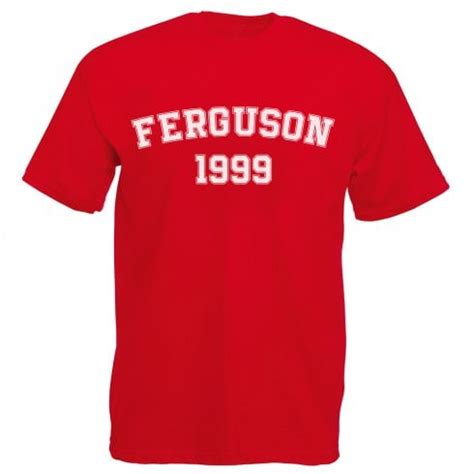 Tshirt Sir Alex Ferguson 1 ferguson 1999 manchester united t shirt from