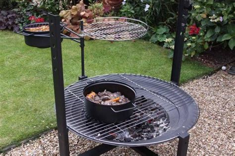 pit rotisserie large firepit with rotisserie and bbq grill bowl with