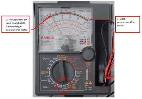 membaca multimeter analog  digital panduan teknisi