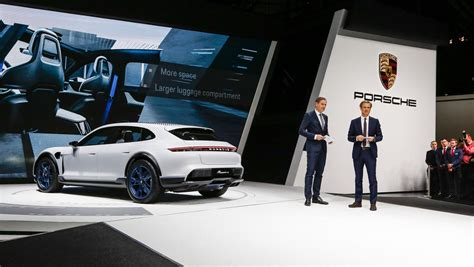 porsche mission e red mission e cross turismo electric mobility in its most