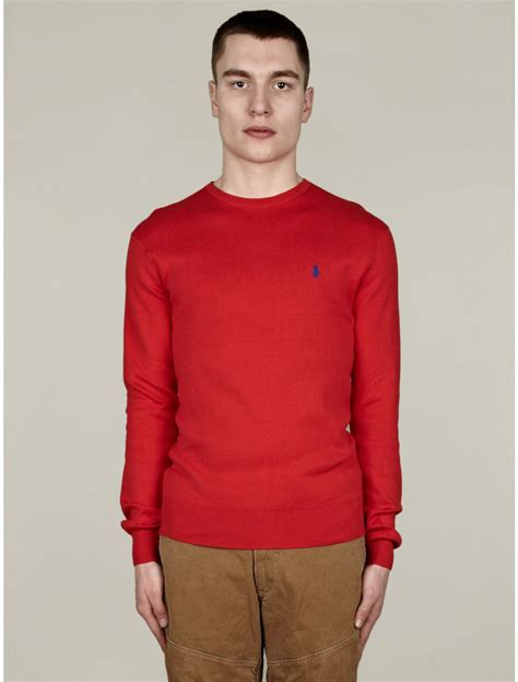 Polo Ralph Mens Crewneck Cotton Knit In For