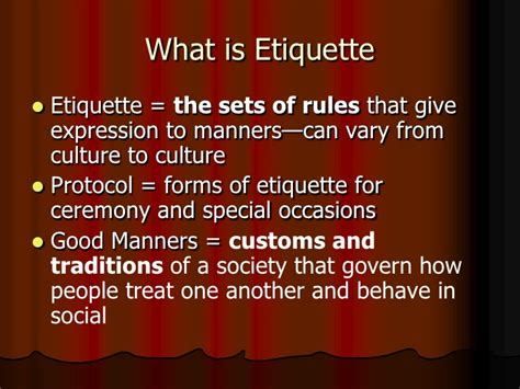 leadership etiquette for youth leaders