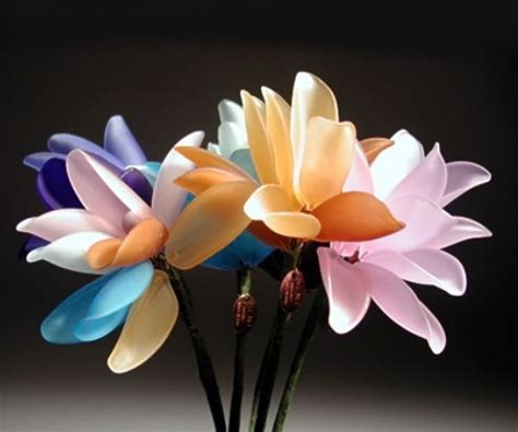 fiori di vetro fiori di vetro composizione di fiori finti