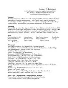 A Sle Of A Cover Letter For A by Sle Makeup Artist Resume Cover Letter Makeup Vidalondon