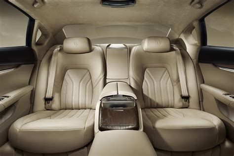 maserati levante interior back seat all 2013 maserati quattroporte photos and details