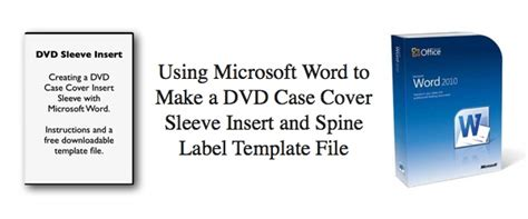 cd spine template using microsoft word to make a dvd cover sleeve