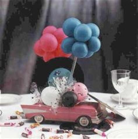 Vintage Car Baby Shower Using Chevron Stripes Baby Classic Car Centerpieces