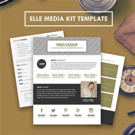 media kit template free media kit template hip media kit templates