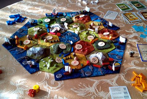custom 3d settlers of catan board with ports and fishery
