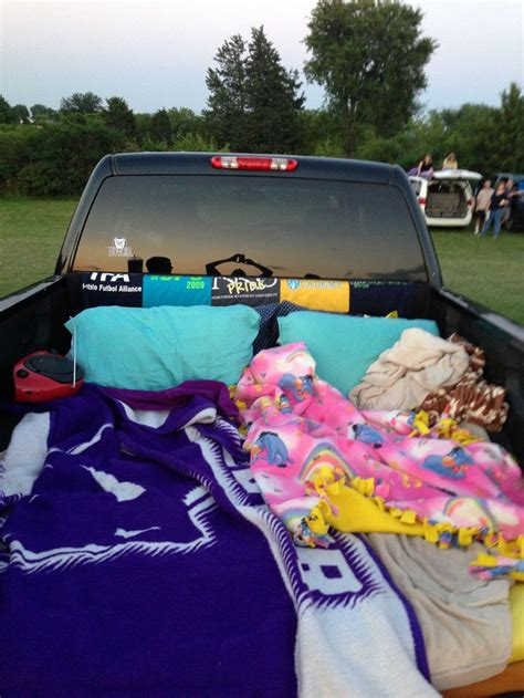 Pillows In The Back Of A Truck truck of blankets and pillows for the drive in diy drive in trucks