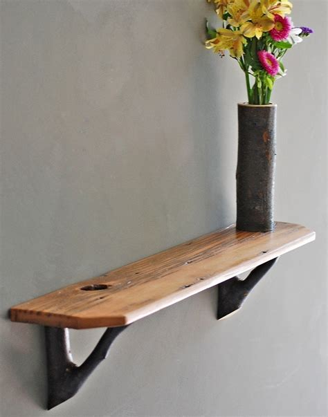 regal rustikal rustic barn wood shelf