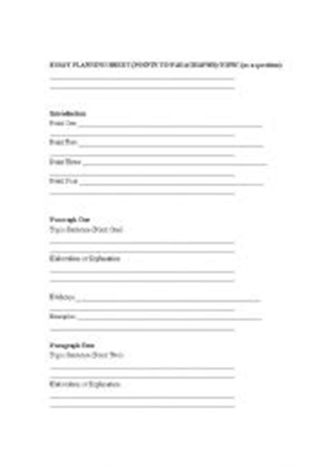 printable essay planning sheet english worksheets essay planning sheet