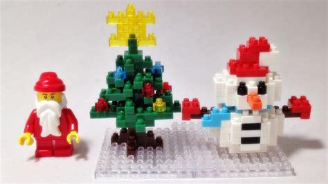 kawada nano block snowman xmas tree mini collection youtube