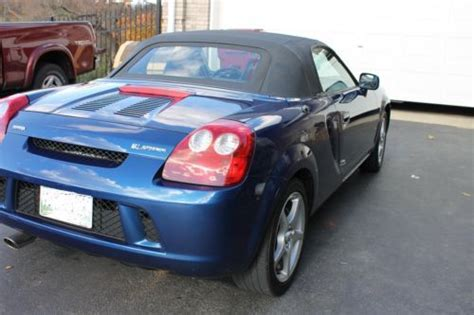 2004 Toyota Mr2 Spyder Buy Used 2004 Toyota Mr2 Spyder Convertible Spectra Blue