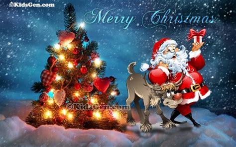 merry christmas kidsgen wallpaper