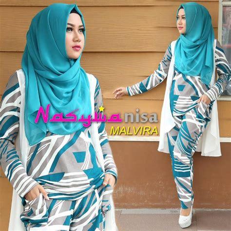 Baju Muslim Wanita Ar1923 contoh foto baju muslim modern terbaru 2016 trend fashion